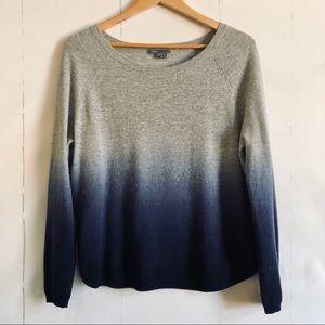 Vince Gray Blue Dip Dye Sweater
